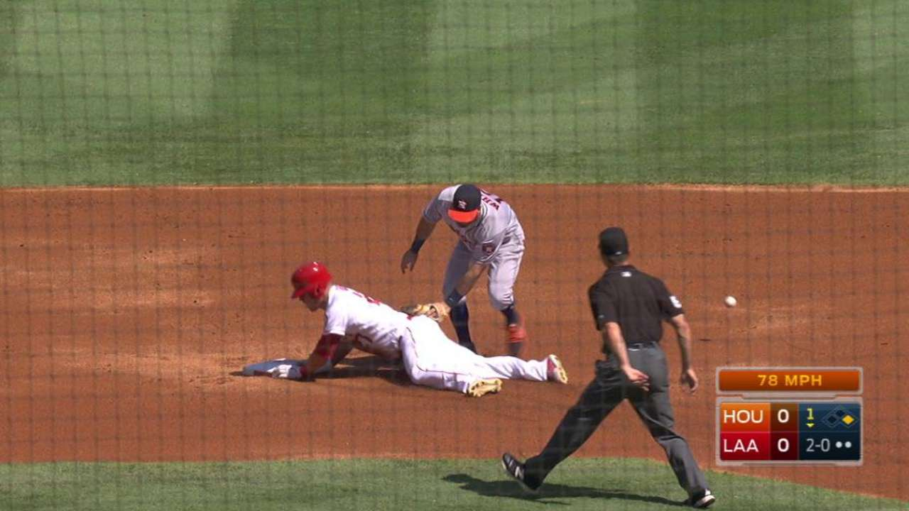 Trout's 30th stolen base