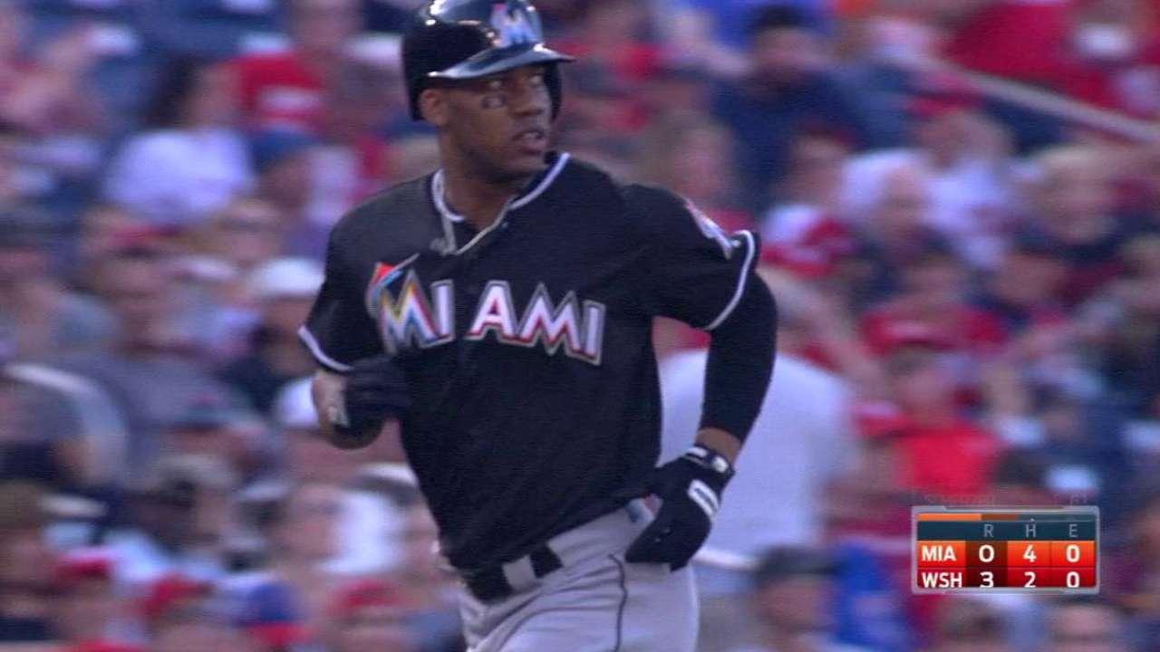 Hood's first Major League homer