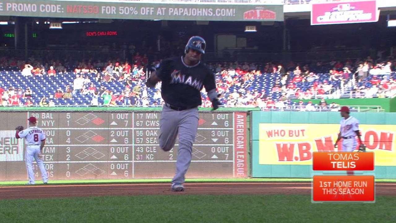 Telis' first Major League homer