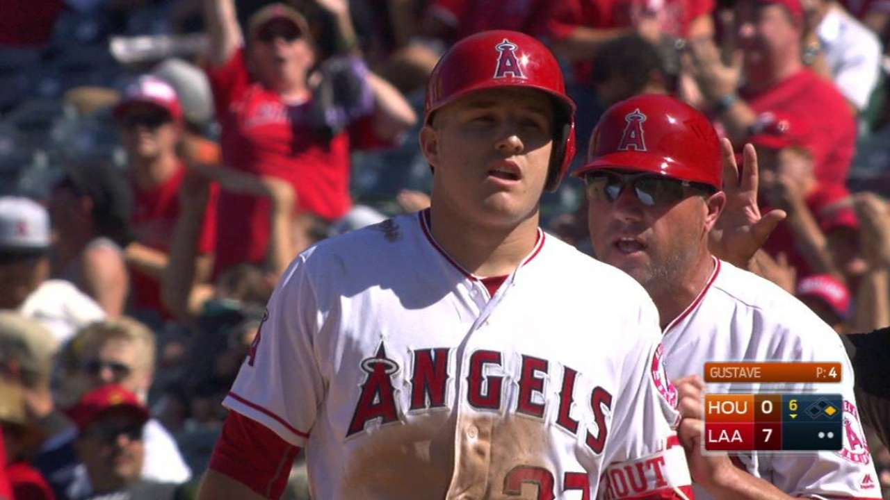 Trout's 100th RBI