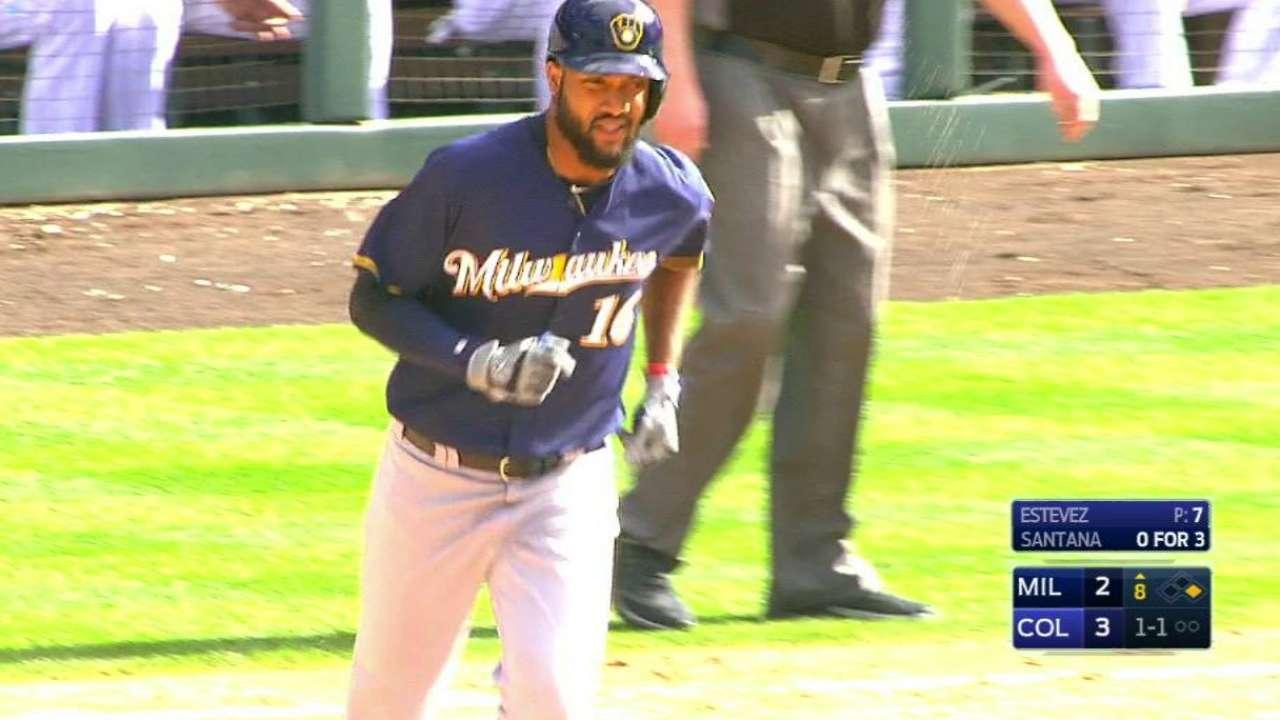 Santana's two-run home run