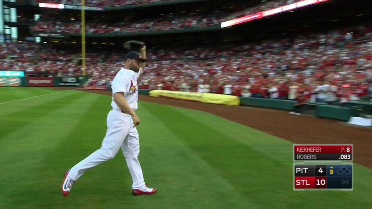 Holliday comes out to ovation