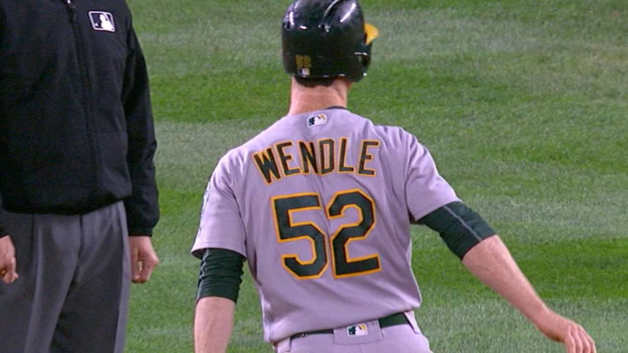 Wendle's four-hit night