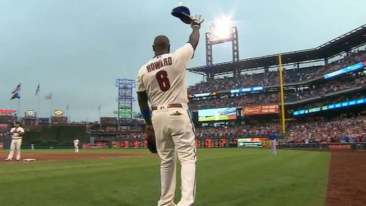 Howard's farewell Phillies' top moment in '16