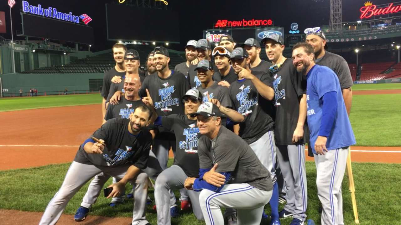 Blue Jays celebrate clinch