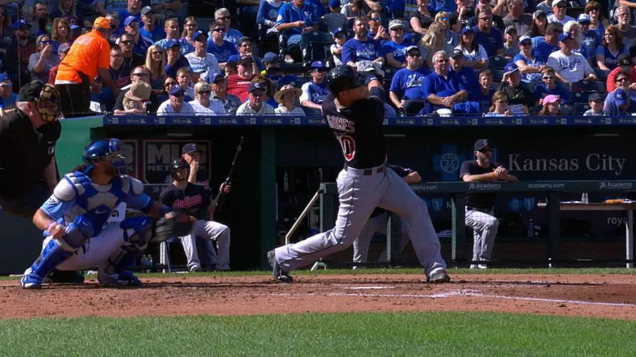 Gomes' 416-foot home run