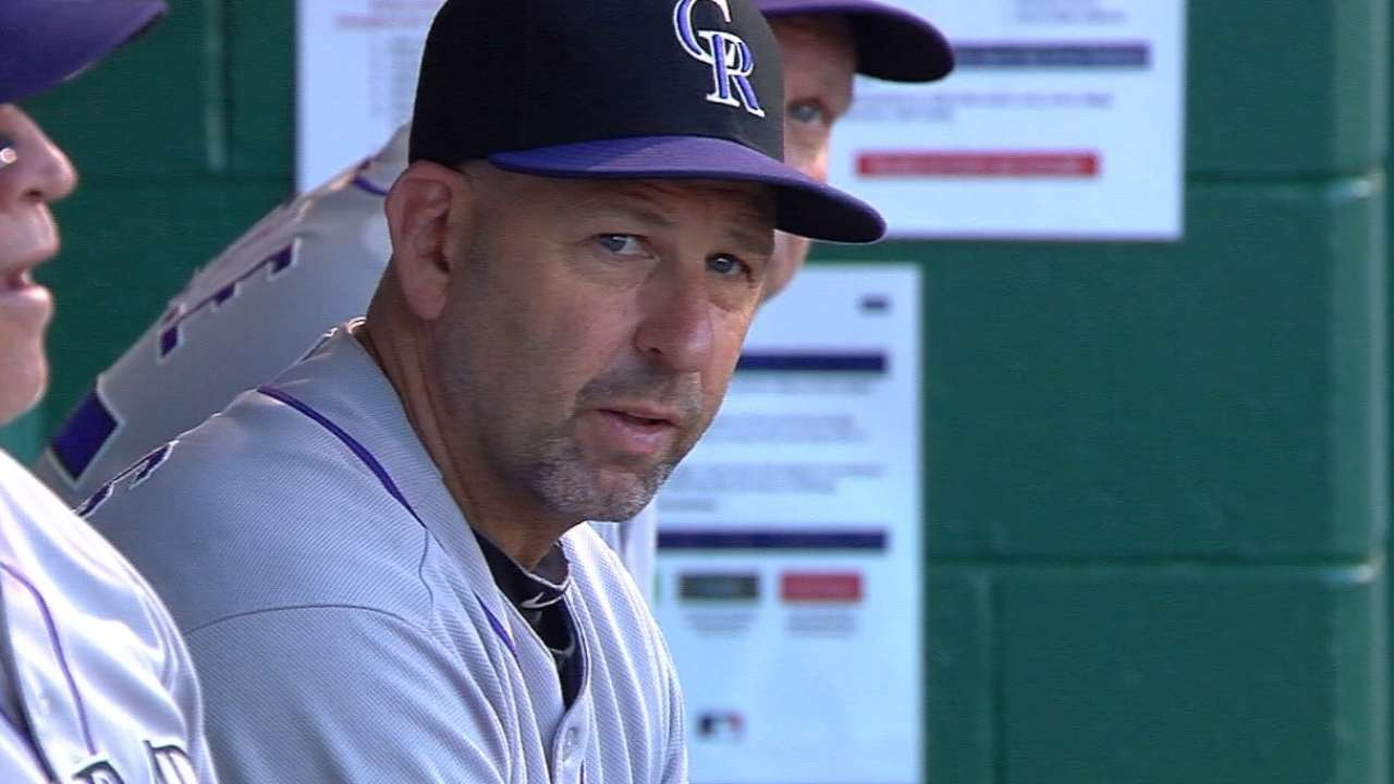 Weiss steps down as Rockies manager