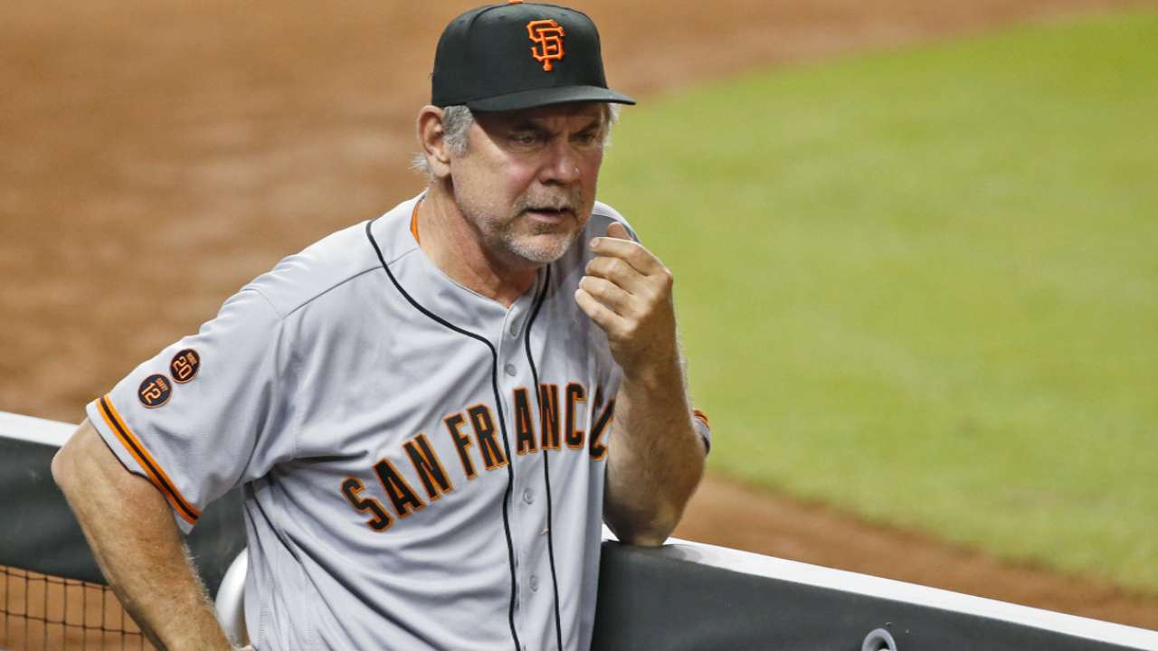 Oct. 4 Bruce Bochy workout day interview
