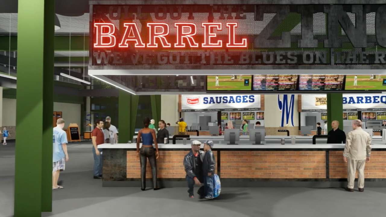 Miller Park concessions renovation underway