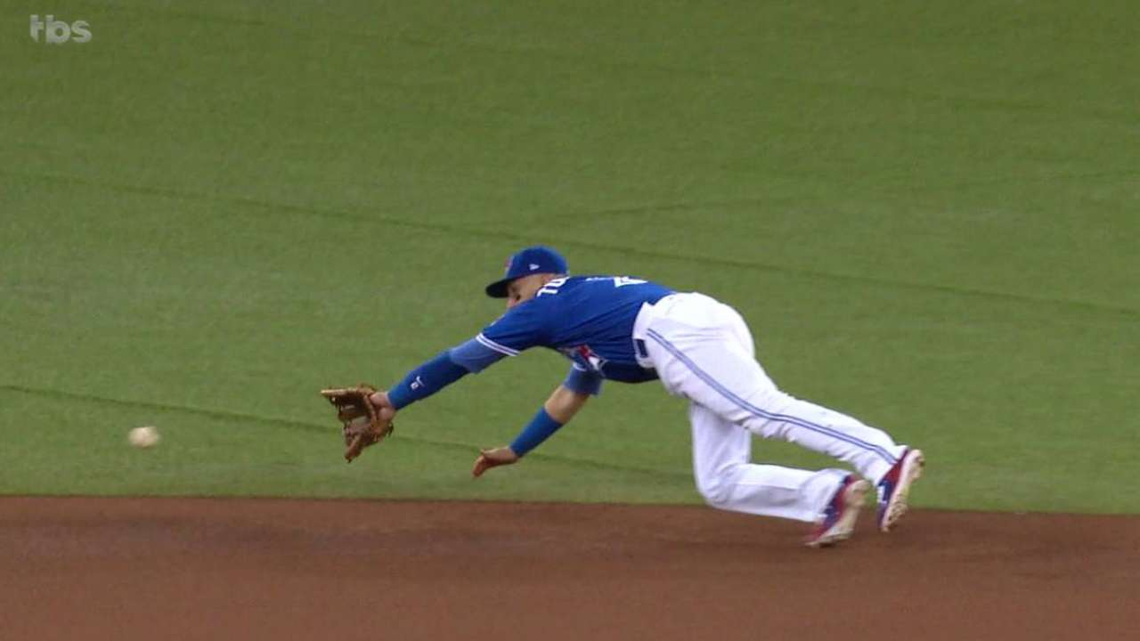 Tulo's diving stop