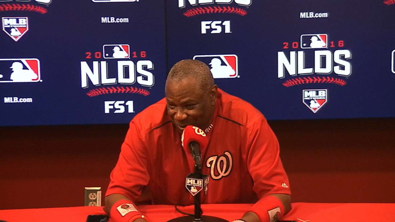 Baker on club's health for NLDS