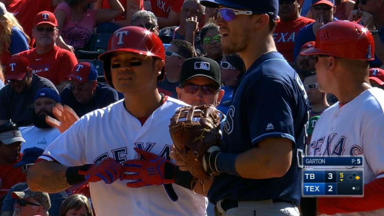 Choo, Hoying in; Rangers go with 7-man ALDS 'pen