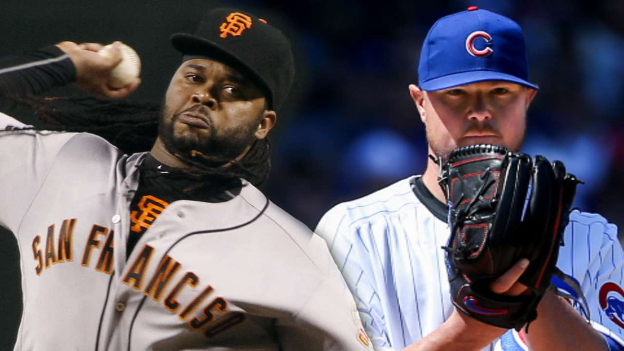 NLDS Game 1 lineups: Giants vs. Cubs