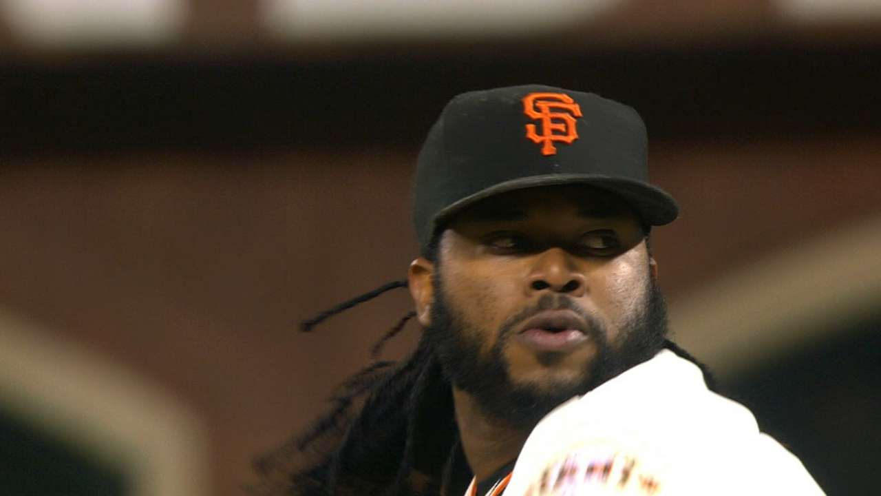 Oct. 6 Johnny Cueto workout day interview