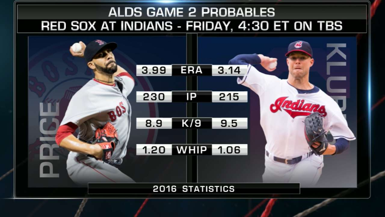 ALDS Game 2 lineups: Red Sox vs. Indians
