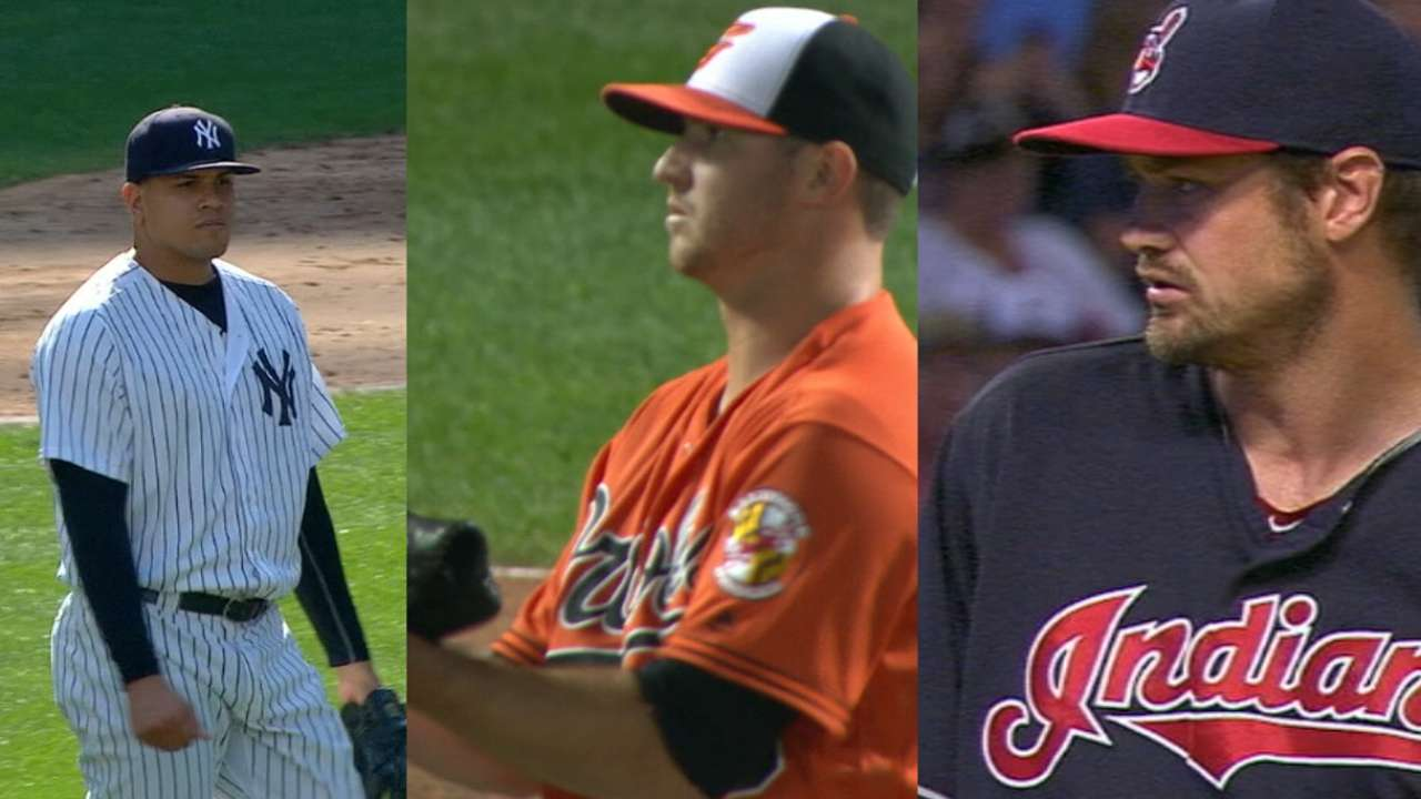 Top AL relievers up for annual Mariano Award