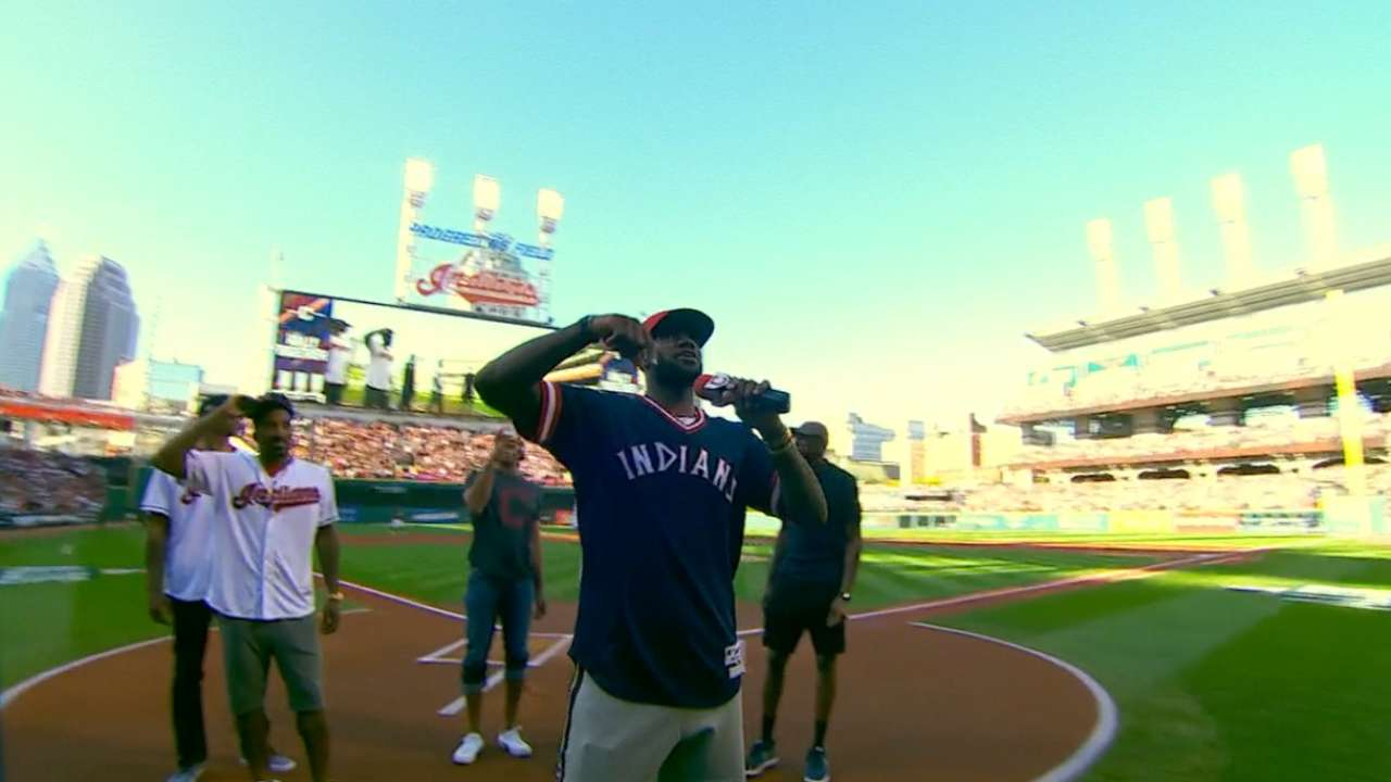 LeBron shows support for Tribe