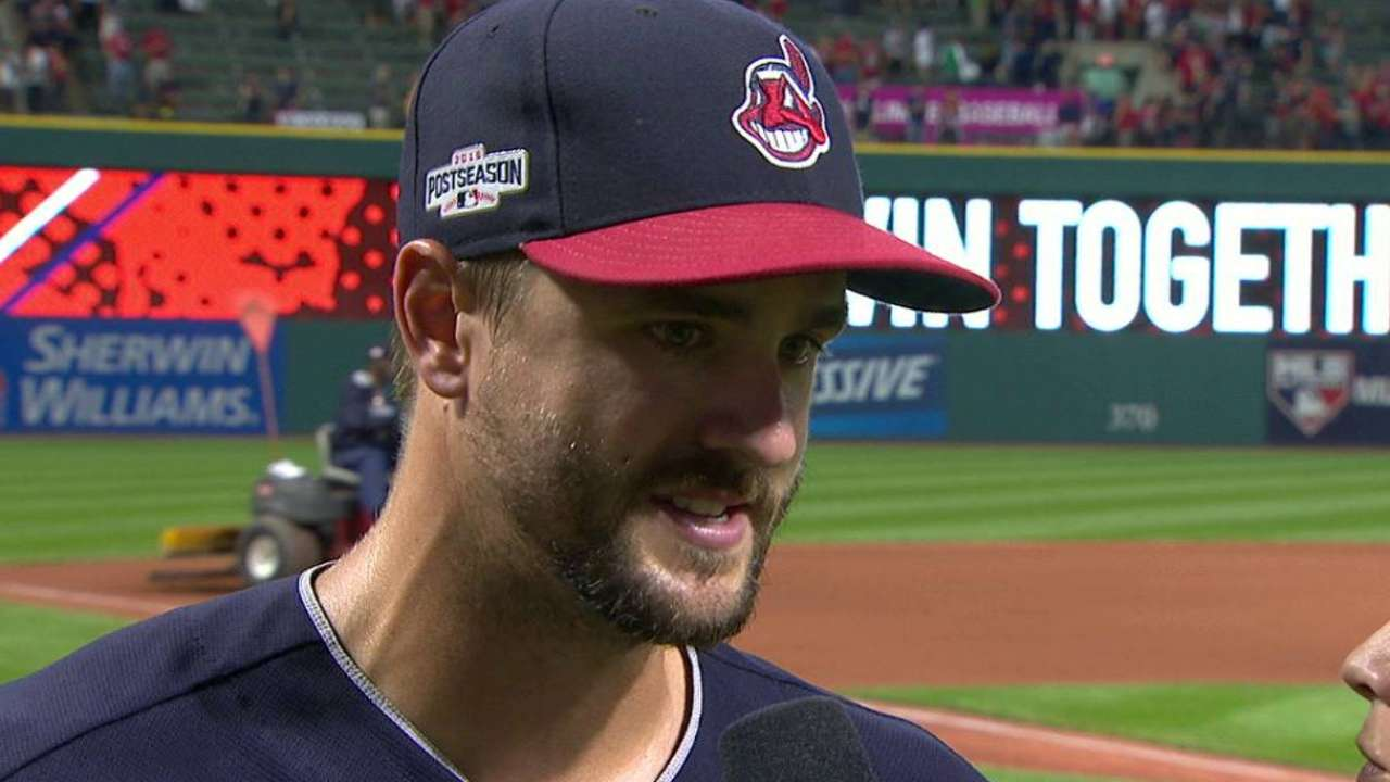 Oct. 7 Corey Kluber and Lonnie Chisenhall postgame interview
