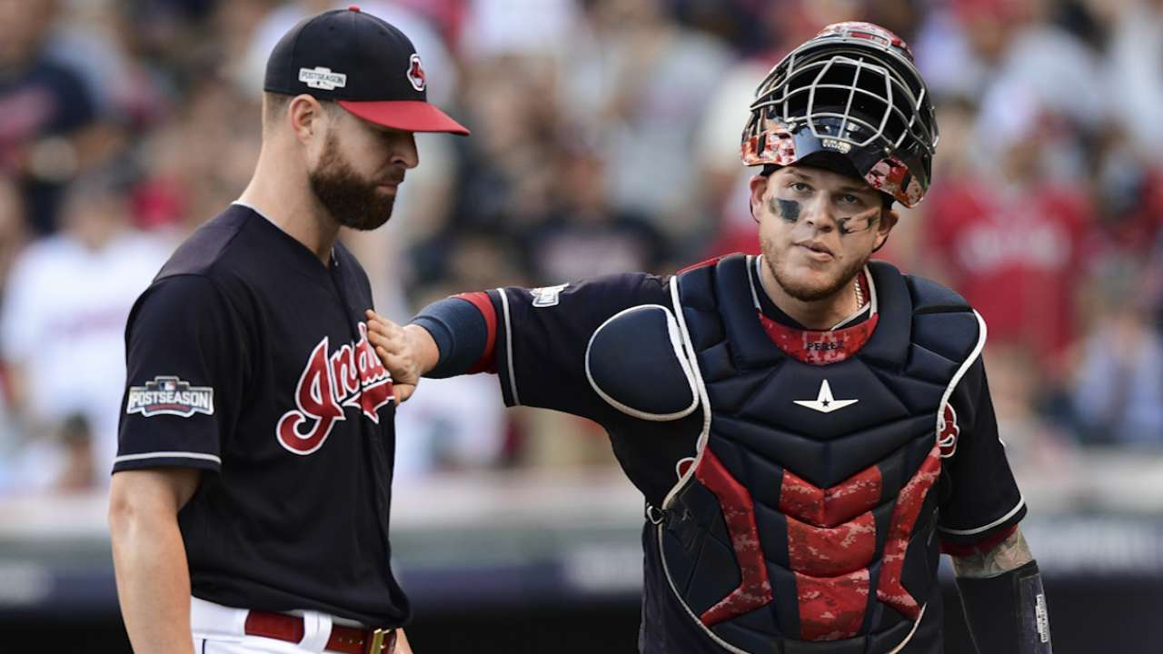 Oct. 7 Corey Kluber, Lonnie Chisenhall postgame interview