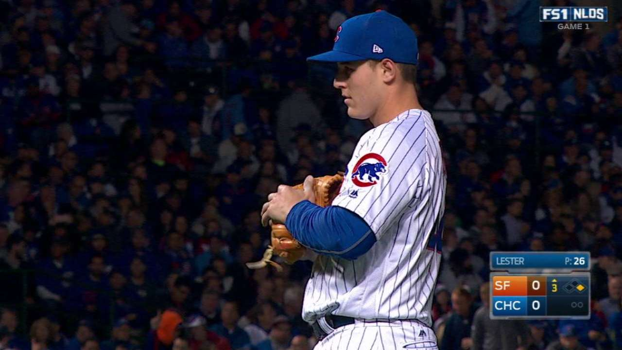 Rizzo swaps gloves