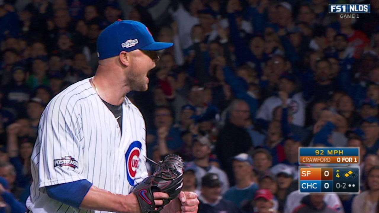 Lester works out of a jam