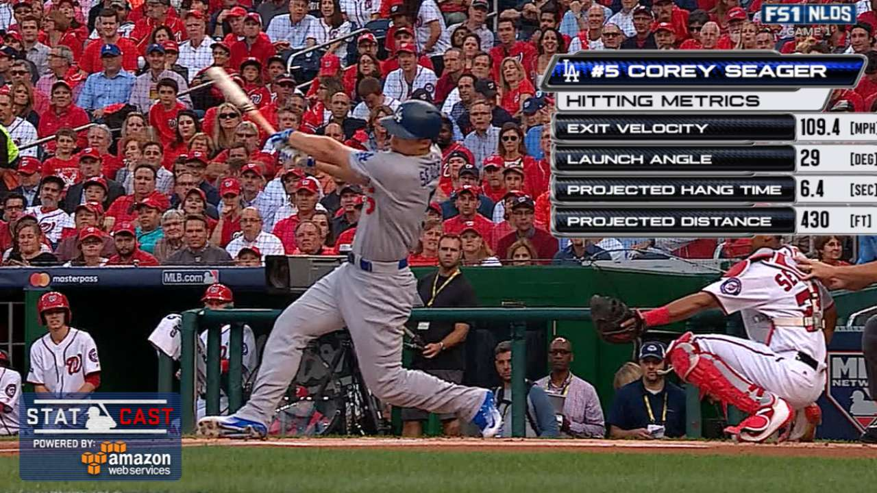Statcast: Seager's 430-ft homer