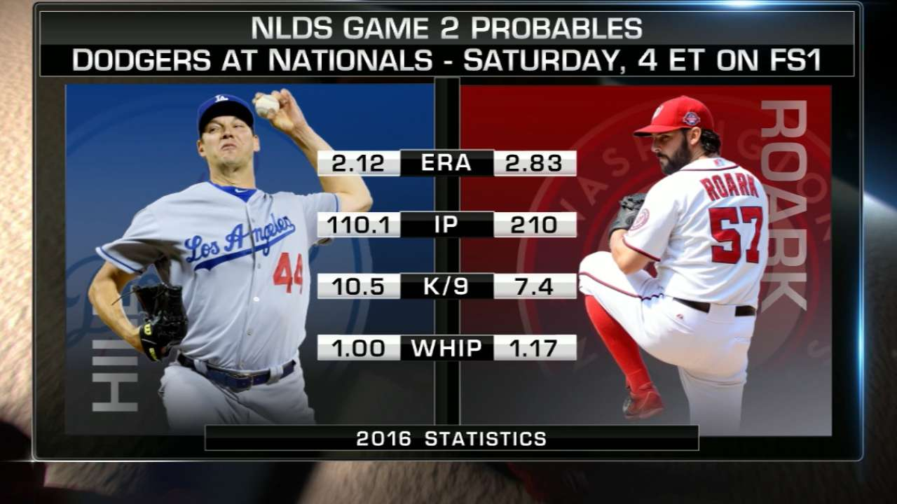 NLDS Game 2 lineups: Dodgers vs. Nationals