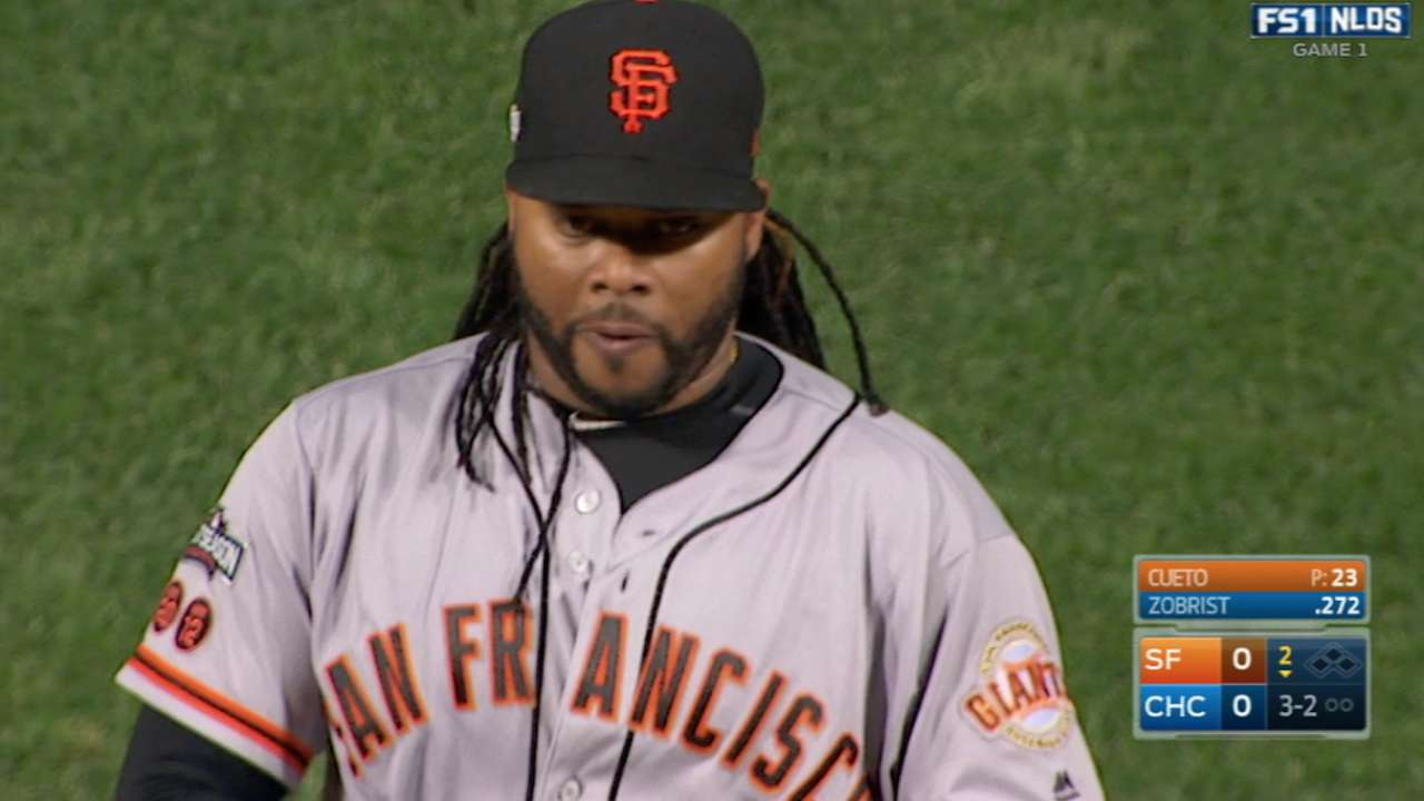Cueto's lapse costly in stellar Game 1 outing