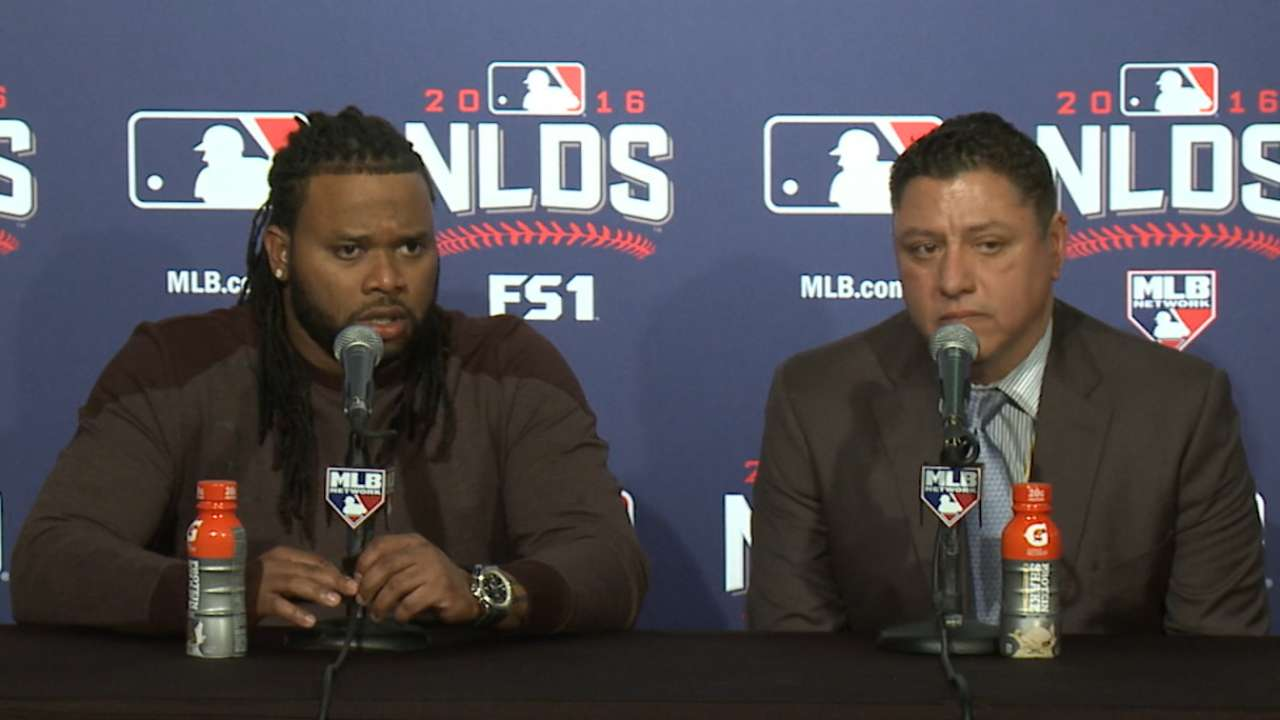 Oct. 7 Johnny Cueto postgame interview