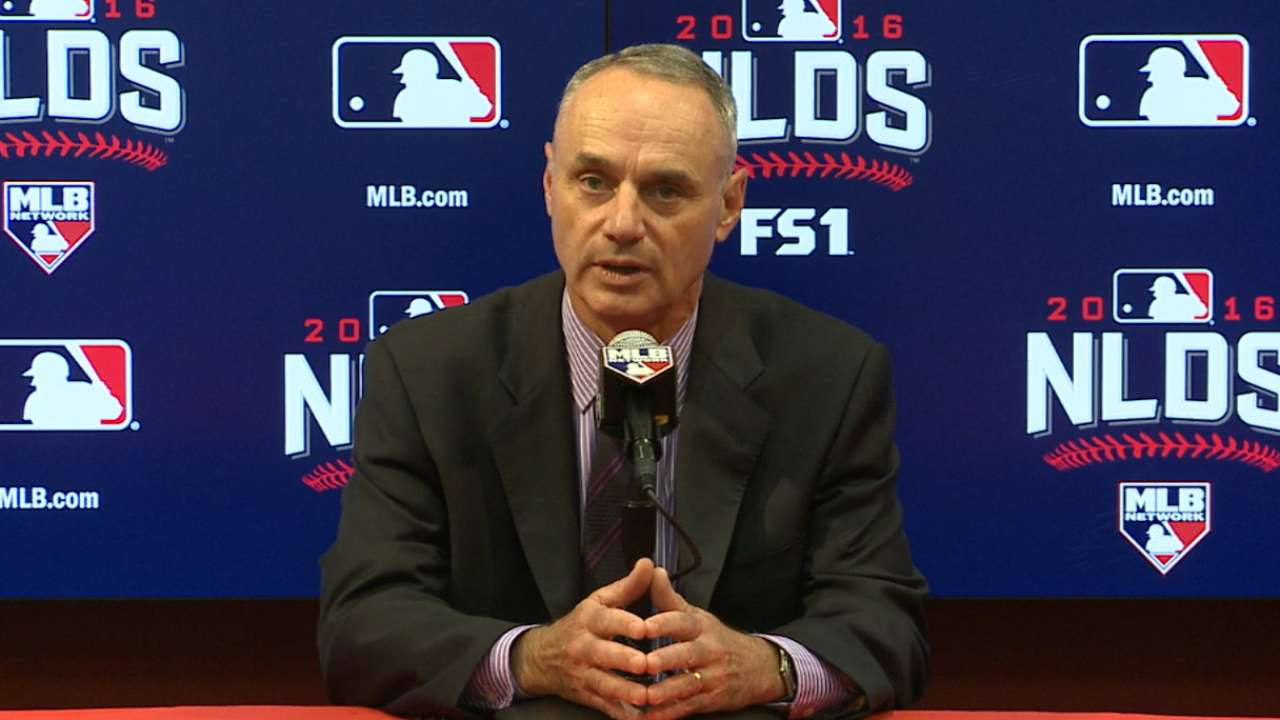 Oct. 8 Commissioner Manfred interview
