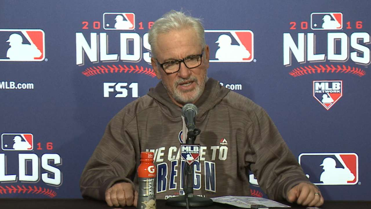Maddon on Cubs holding 2-0 lead