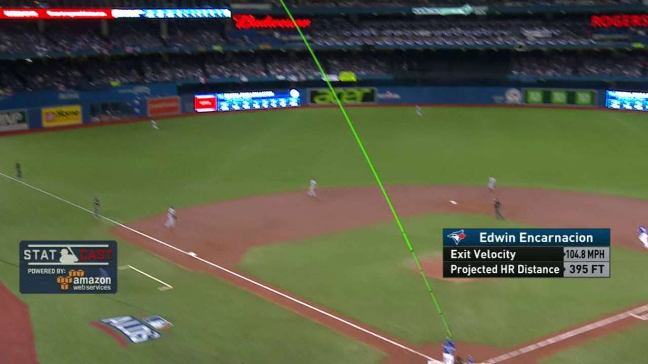 Statcast: Blue Jays' homers