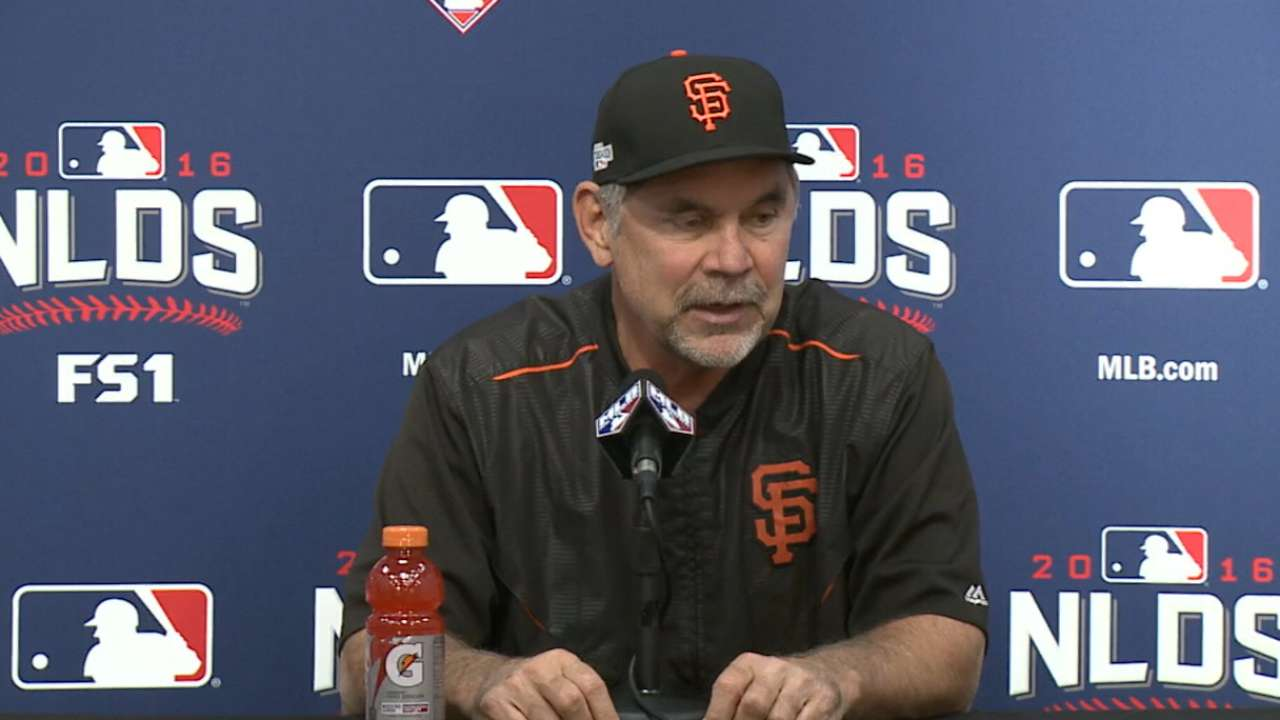 Oct. 9 Bruce Bochy workout day interview
