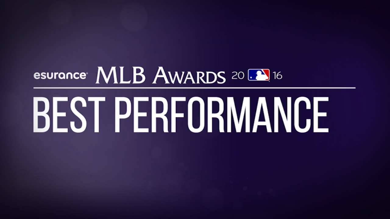 Vote for Best Performance in MLB Awards