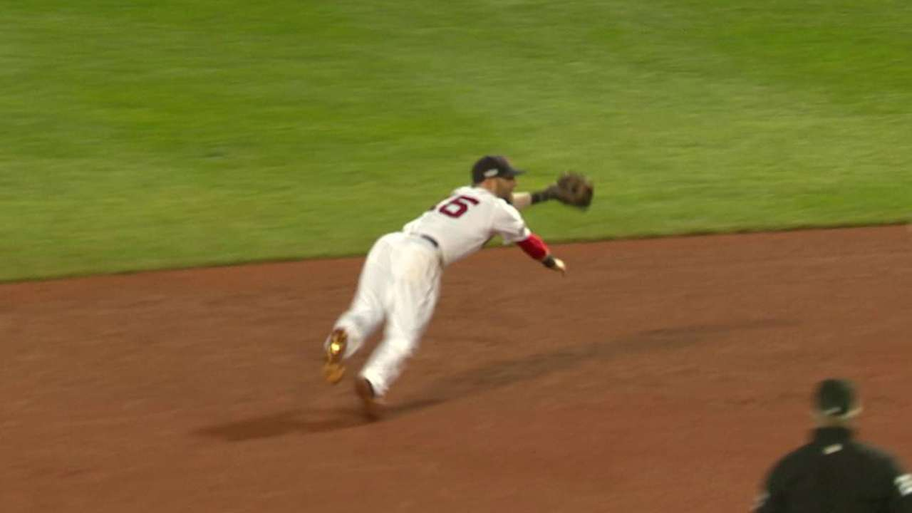 Statcast: Pedroia's diving stop