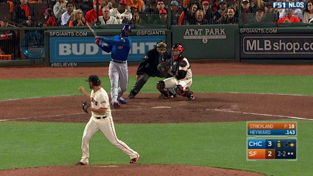 Strickland strikes out Heyward