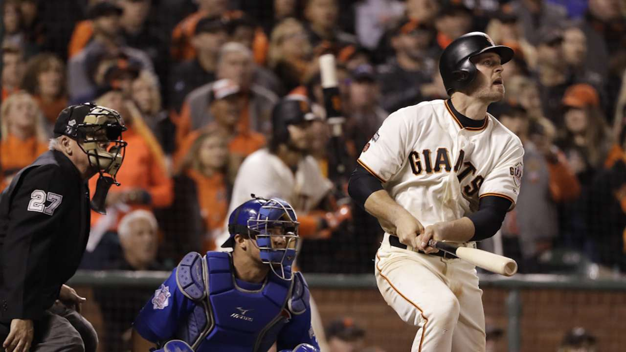 Bochy on Gillaspie's clutch bat