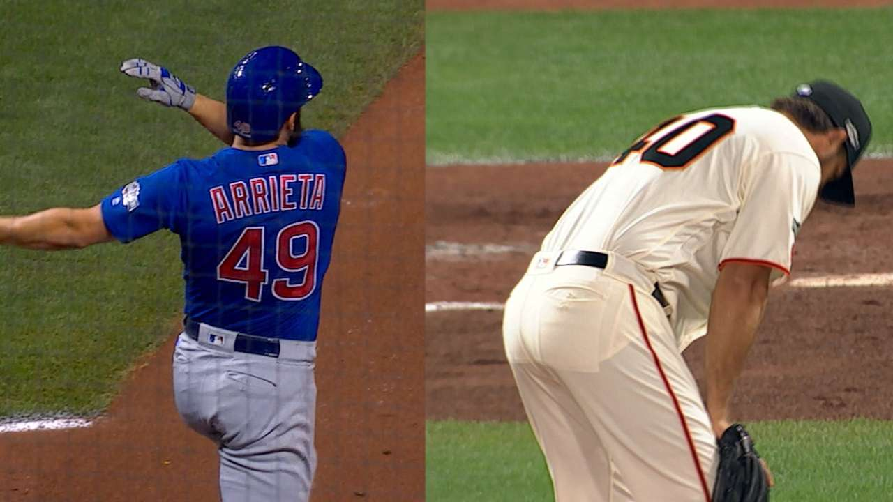 Must C: Arrieta's three-run HR