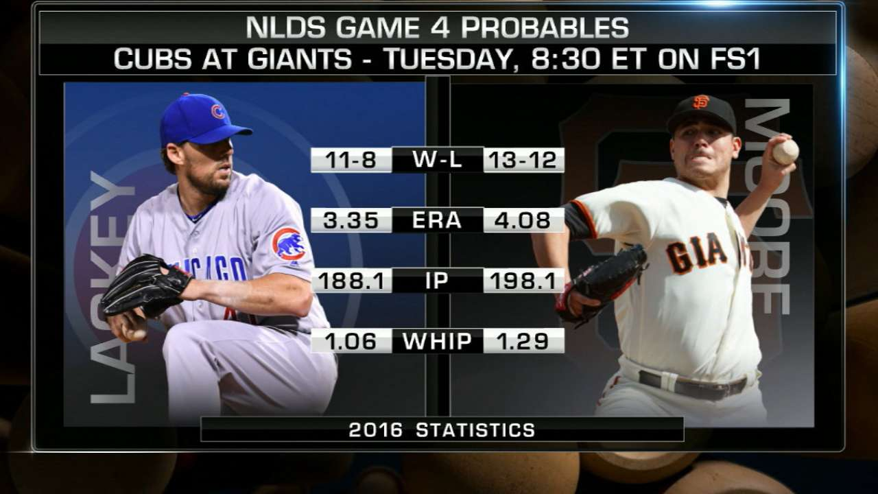 NLDS Game 4 lineups: Cubs vs. Giants