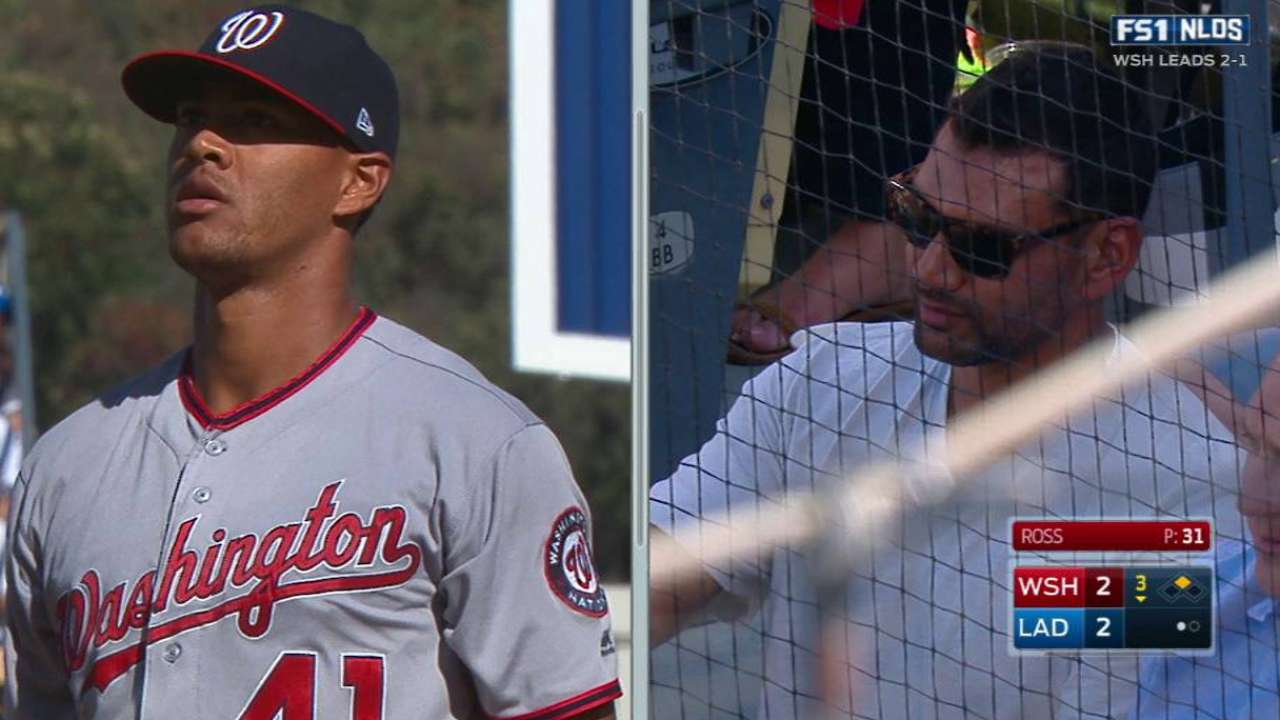 Ross watches his brother pitch