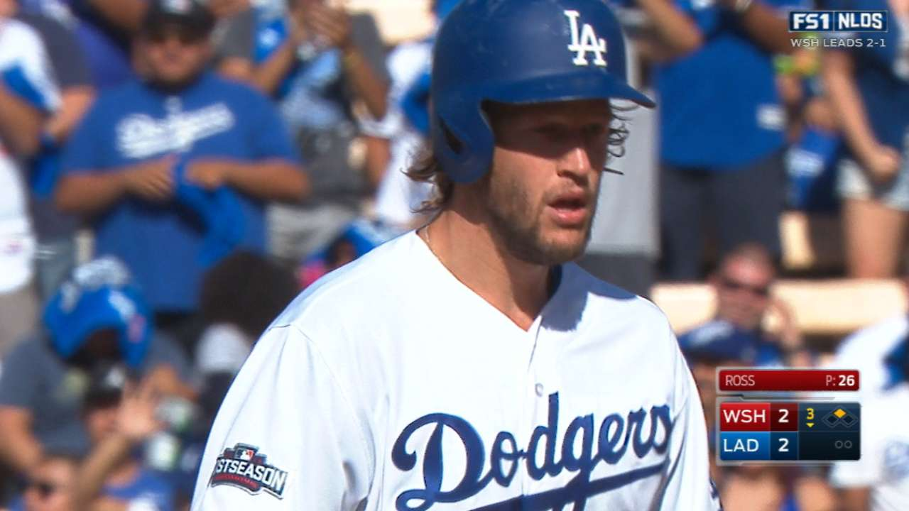 Kershaw doubles, scores for lead