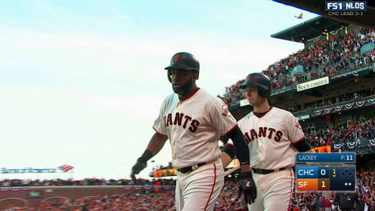 Span's hustle, 2B get Giants going in Game 4