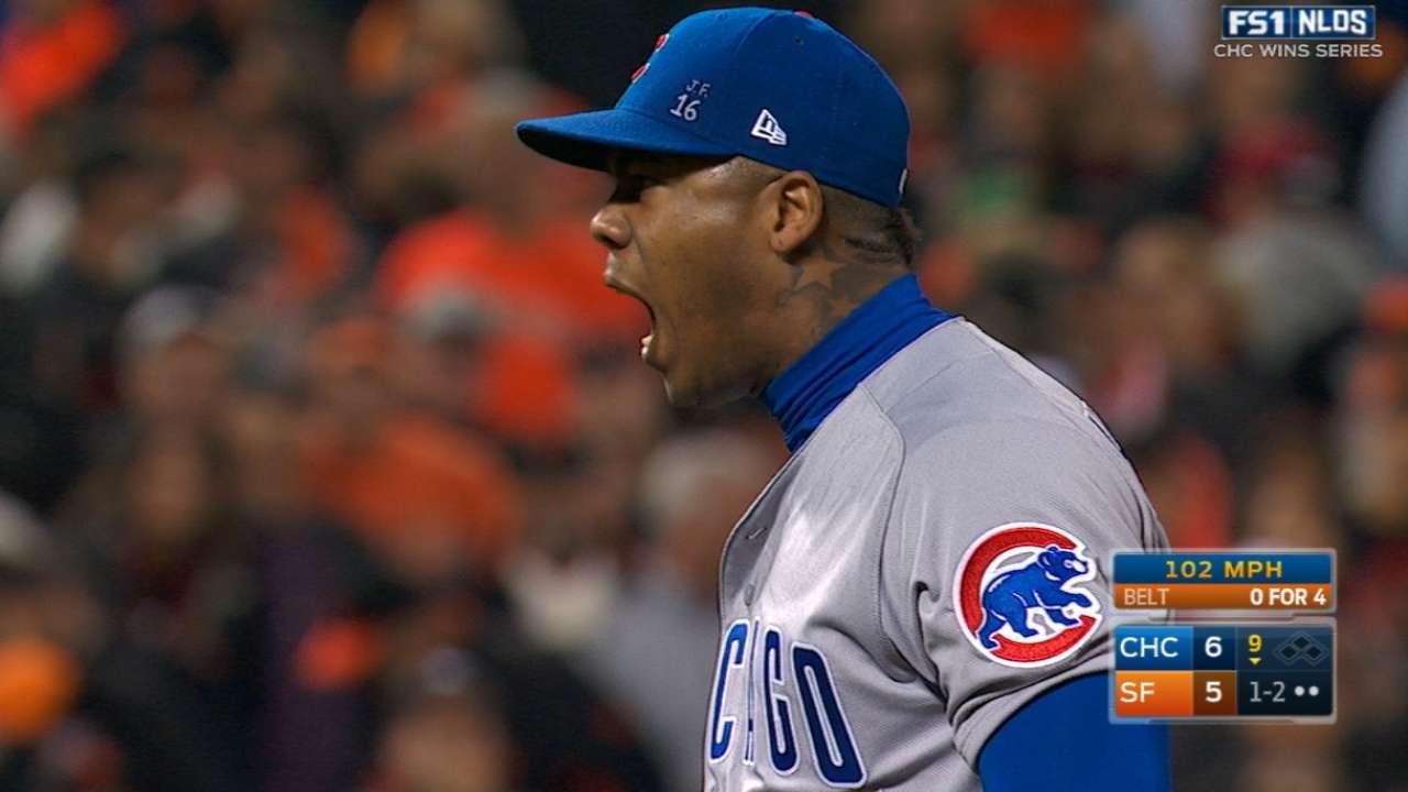 Aroldis Chapman se recuperó para sellar gran regreso de Cubs
