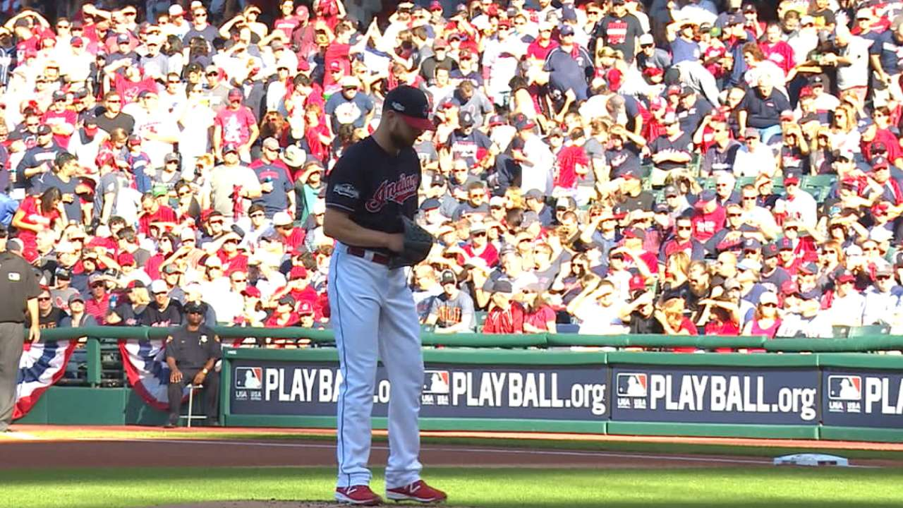 Kluber looking to ace Blue Jays in Game 1