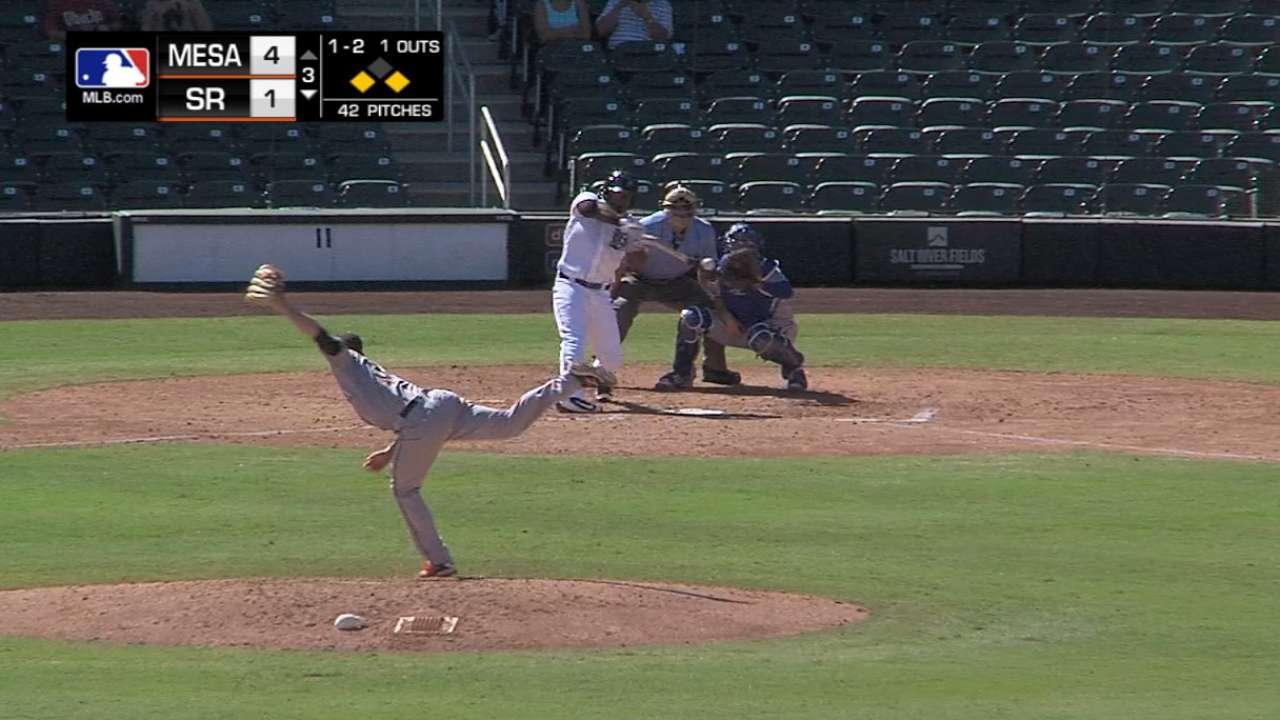 Stewart's three-run homer