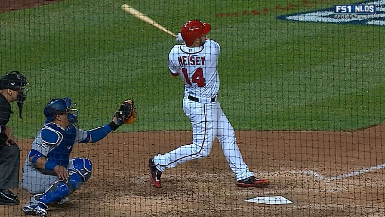 Heisey's two-run homer to left