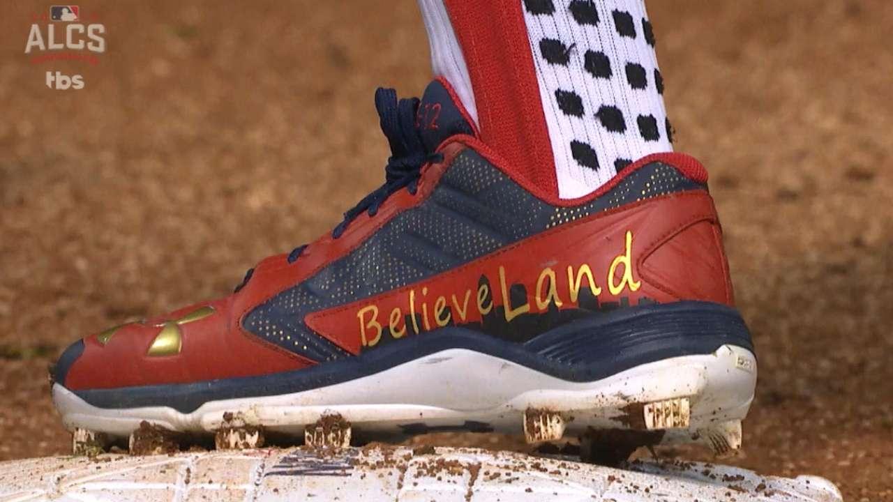Lindor's 'BelieveLand' cleats