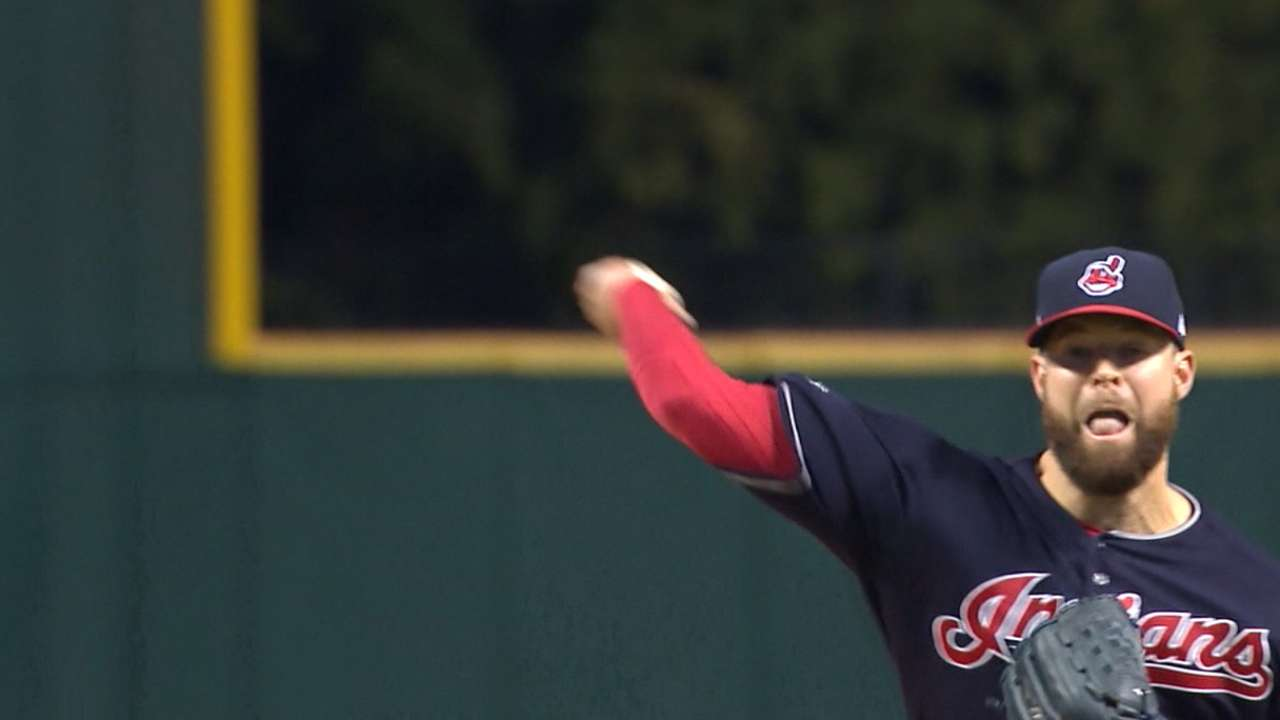 Tribe pitching's strong in Game 1