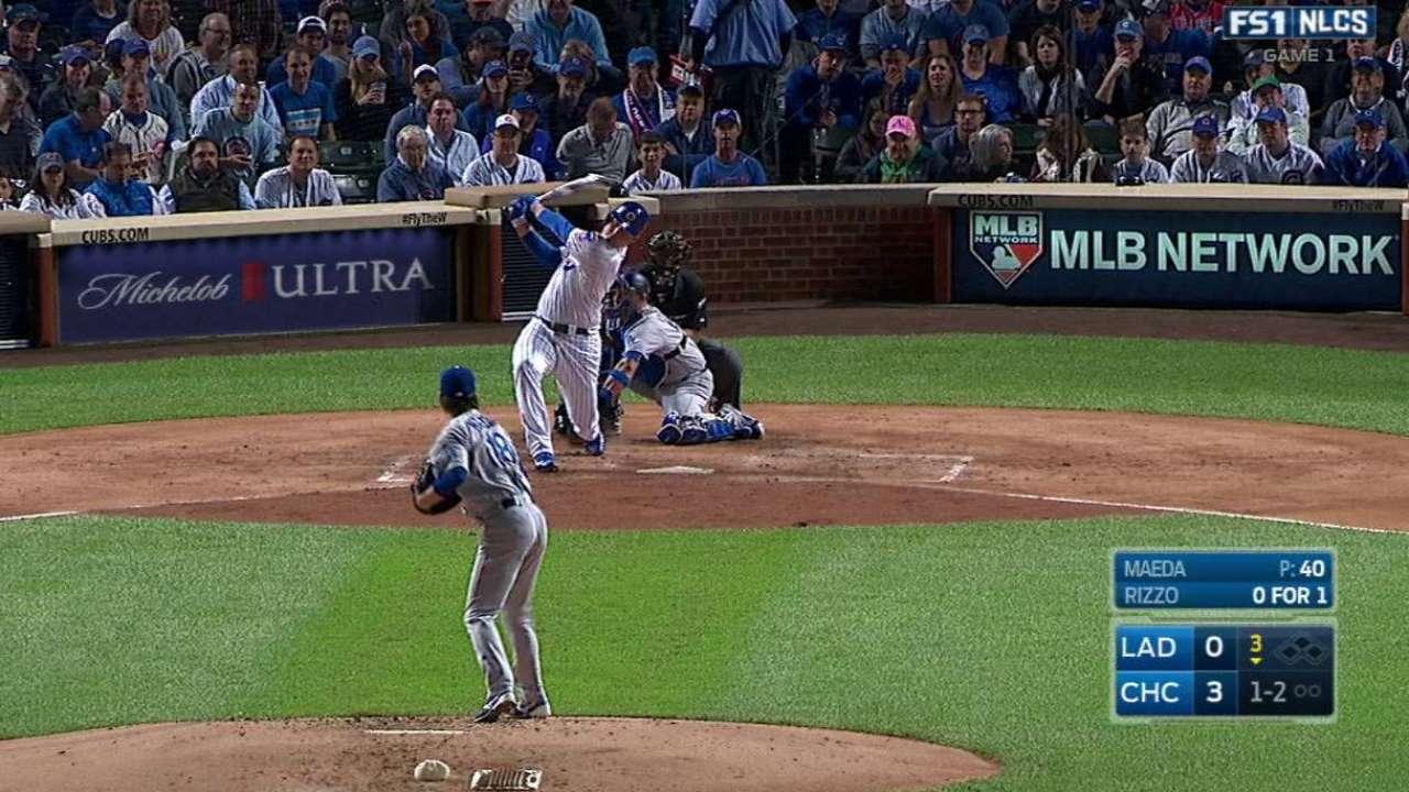 Maeda gets Rizzo swinging