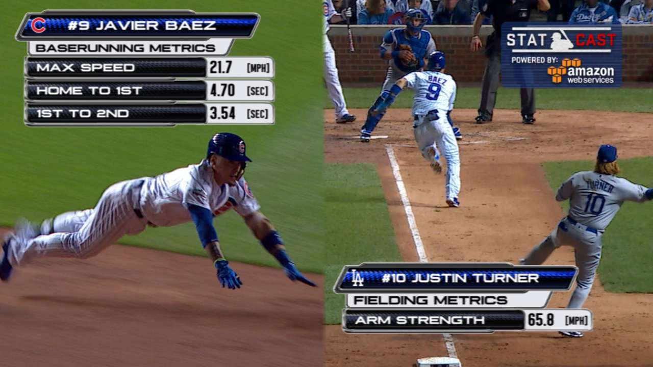 Statcast: Baez's steal of home